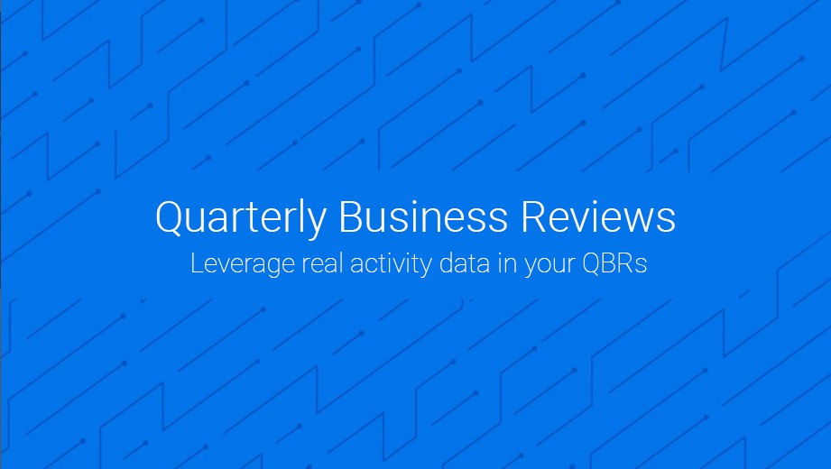 Leverage real activity data in your QBRs