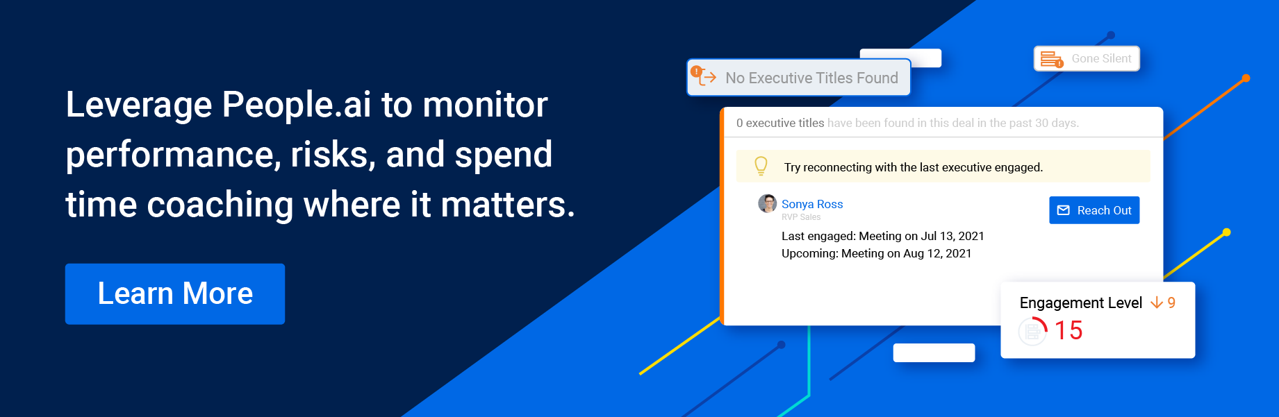 Leverage People.ai to monitor perfomance, risks, and spend time coaching when it matters